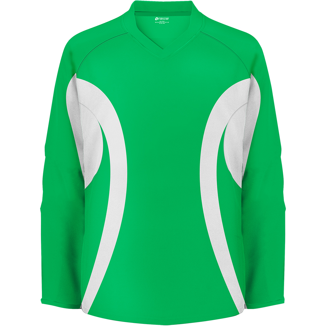 Firstar Arena 2-Tone Hockey Jersey (Kelly Green/White)