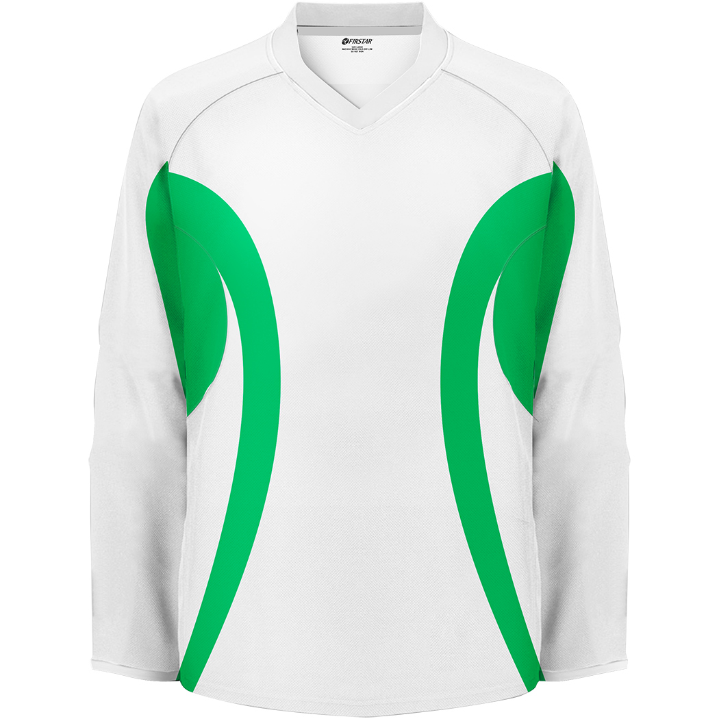 Firstar Arena 2-Tone Hockey Jersey (White/Kelly Green)