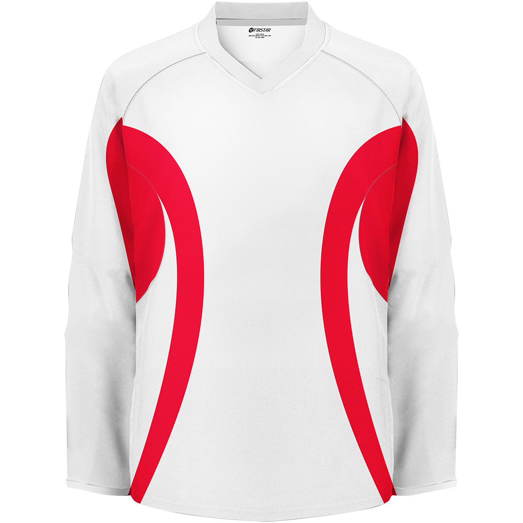 Firstar Arena 2-Tone Hockey Jersey (White/Red)