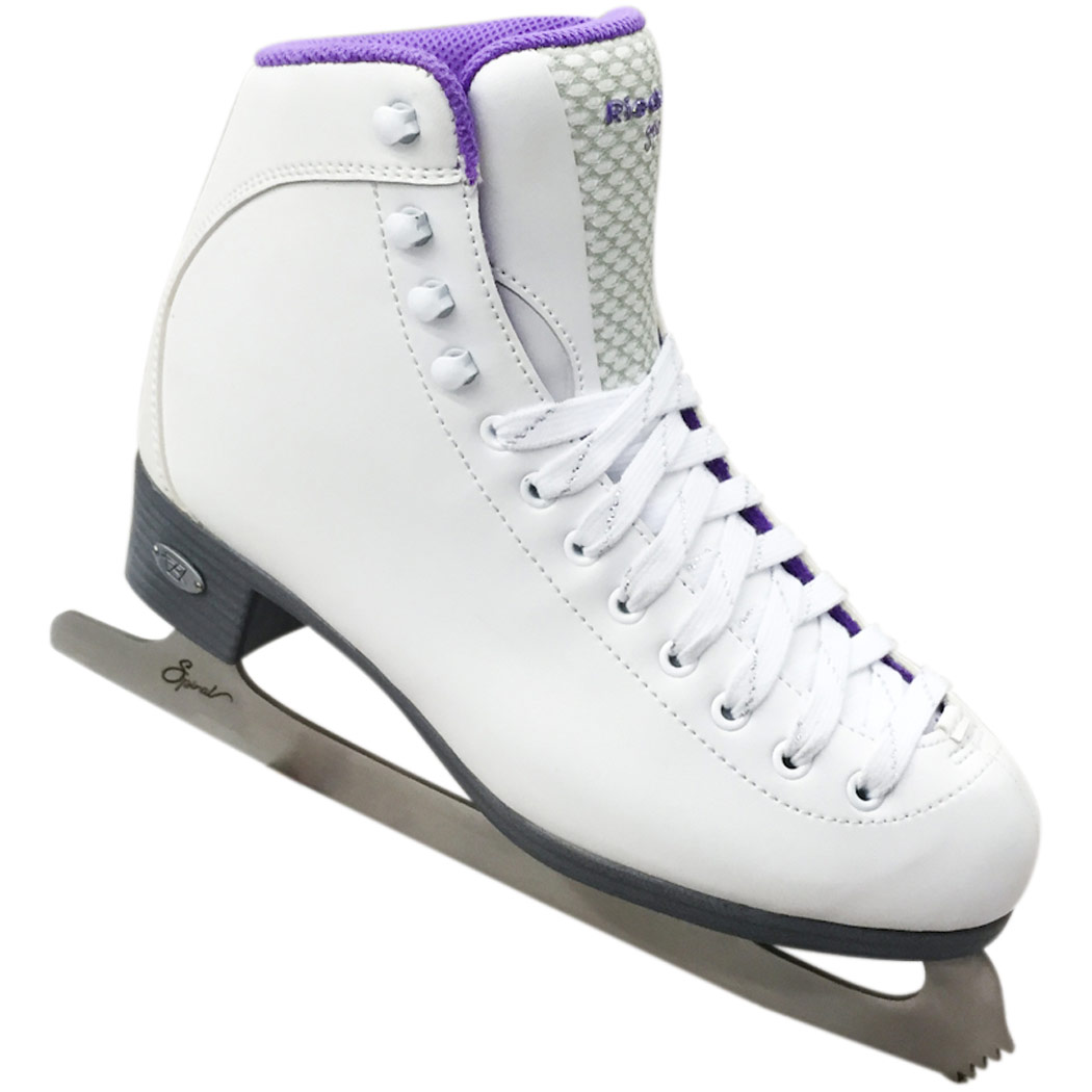 Riedell 118 Sparkle Womens Figure Skates With Spiral Blades