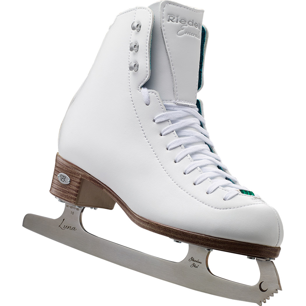 Riedell 119 Emerald Womens Figure Skates With LUNA Blade