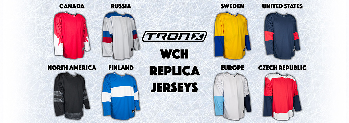 TronX World Cup of Hockey Jerseys